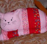 Kočka - hračka nebo polštář (patchworková technika)
