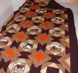 Patchworková deka a polštář s motivem koní