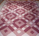Patchworková deka - Růžové snění